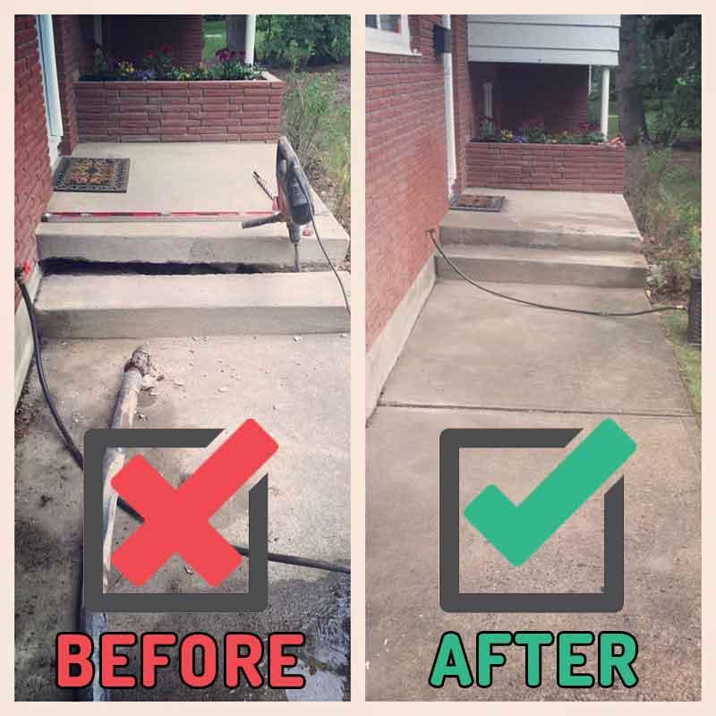 fixing concrete porch steps